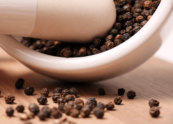 Black pepper inhibits the natural detoxification process supported by turmeric